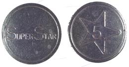 00932 GETTONE TOKEN JETON ARCADE GAME MACHINE SUPER STAR - Italy
