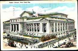 4418)  Cartolina Di New York- Public Library -viaggiata 1923 - New York City
