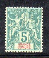 APR1310 - GRANDE COMORE 1897 , Yvert N. 4  *  Linguellato (2380A) - Nuovi