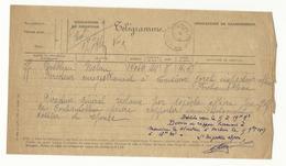 Télégramme Fontainebleau / Melun (1917) - Télégraphes Et Téléphones