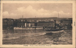 Ansichtskarte Rijeka Fiume/Reka Hafen Mit Dampfer 1928 - Croatia