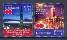 D21- EL SALVADOR 2006. ARCHITECTURE. TAIPEI TOWER PRESIDENTIAL HOUSE. NATIONAL PARTY REPUBLIC CHINA. - El Salvador