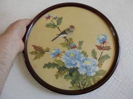 Peinture Sur Soie Chine Souvenir HongKong Vintage 1 De 7 Ventes Diamètre 32 Cm.! - Obj. 'Souvenir De'