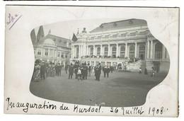 Carte Photo 1908 - Spa - Inauguration Du Kursaal - 26 Juillet 1908 - 2 Scans - Spa