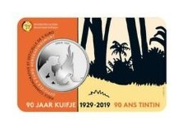 Belgie 2019   5 Euro  Kuifje - Tintin In Coincard   Extreme Rare !!! - Belgien