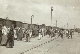 ROMANIA - TIMISOARA, Well Animated TRAIN STATION, Real Photo Postcard - 1910 - Romania