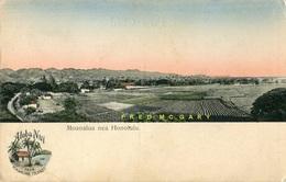Circa-1909 Territory Of Hawaii Postcard: Valley Between Moanalua & Honolulu - Oahu
