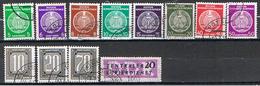(A2-221) GERMANY // YVERT 1,2,3,4,6,8,12,14,35,36,38,40 SERVICE // 1954-56 - Service
