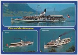 Passagierschiff -Vierwaldstättersee - Dampfschiffe Gallia, Schiller, Und Stadt Luzern - Gelaufen Weggis - Basel - Other