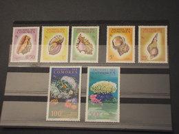 COMORES - 1962 CONCHIGLIE 7  VALORI - NUOVI(++) - Isole Comore (1975-...)