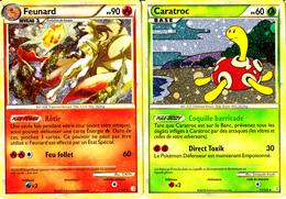 2 Cartes Pokémon Holographiques Feunard 90 Et Caratroc 60 HGSS - Pokemon