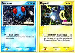 2 Cartes Pokémon Holographiques Tentacool 50 Et Magneti 50 Créateurs De Légendes - Pokemon