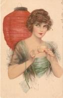 """Pretty Aerican Lady""  Nice Anique American Postcard - Women"