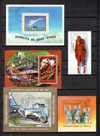 Guinea  Bissau  1978-88  .-  Y&T  Nº   17-23-29-53-58   Block - Guinea-Bissau