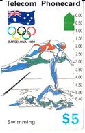AUSTRALIA -  Barcelona 1992 Olympics/Swimming(N91042-2-4), Used - Jeux Olympiques