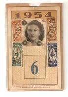 BIGL--00062-- ABBONAMENTO ANNUALE A PAGAMENTO RATEALE-VALE PER 1 LINEA-AZIENDA TRANVIE MUNICIPALI TORINO-1954 - Week-en Maandabonnementen
