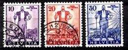 Suisse 1936 Mi.Nr: 294-296 Freiburger Senn  Oblitèré / Used / Gebruikt - Suisse