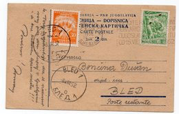 1952 YUGOSLAVIA, SLOVENIA, LJUBLJANA, BLED, POST RESTANT, POSTAGE DUE, FLAM - Portomarken