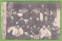 CPA Carte Photo Soldat 18 Eme Régiment ? TOULON 8 Eme Pièce 120 Long Guerre 1914 1918 - Régiments