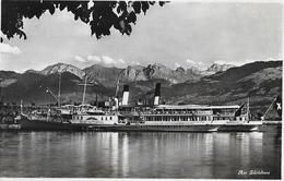 """ZÜRICH → Am Zürichsee Mit Dem Raddampfer """"Stadt Rapperswil"""" Anno 1935 - ZH Zurich"""