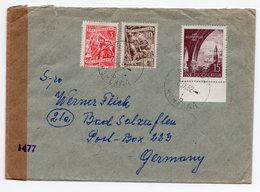 1952 YUGOSLAVIA, SLOVENIA, KOMENDA TO GERMANY, CENSORED, INTERNATIONAL MAIL - 1945-1992 Socialist Federal Republic Of Yugoslavia