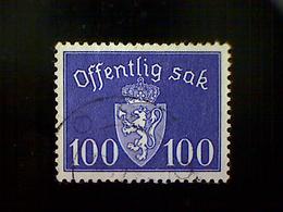 Norway (Norge), Scott #O43, Used (o), 1941 Postage Due, 100ø, Dark Violet - Norway
