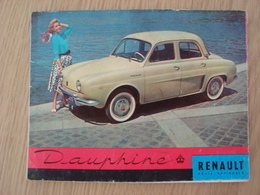 DOCUMENT PUBLICITAIRE RENAULT DAUPHINE - Auto's