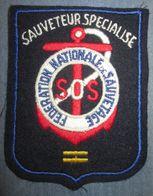 Ancien Insigne Tissu Société De Sauvetage - Navy