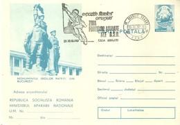 "4047 "" EXPOZITIE FILATELICA OMAGIALA-ZIUIA FORTELOR  ARMATE ALE R.S.R.-25/39-10-1987"" CART. POST. ORIG. NON SPEDITA - Romania"