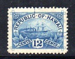 APR1320 - HAWAII 1894 , Yvert N. 67  Usato  (2380A) - Hawaii
