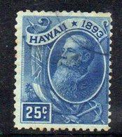 APR1321 - HAWAII 1894 , Yvert N. 68  Usato  (2380A) - Hawaii
