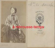 CDV Identifiée à Déchiffrer Madame De .-jolie Femme à La Mode-photo Carjat à Paris - Old (before 1900)