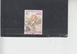 VATICANO  1982 - Sassone  715 - S.Teresa - Vaticano (Ciudad Del)