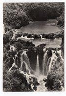 1959 YUGOSLAVIA, CROATIA,PLITVICE, ZAGREB POST DUE, WATERFALL, USED, ILLUSTRATED POSTCARD - Yugoslavia