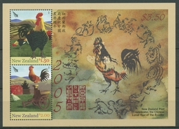 Neuseeland 2005 Chin. Neujahr Jahr Des Hahnes Block 177 Postfrisch (C25720) - Blocchi & Foglietti