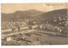NICE . LE FOND DU PORT . CARTE DENTELEE NON ECRITE - Transport Maritime - Port