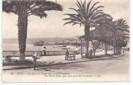 29. NICE . LE QUAI DES ETATS-UNIS VU DES PONCHETTES . CARTE NON ECRITE - Transport Maritime - Port