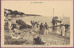 AK La Cote D,AZUR ,114Juan Les Pins A.M.,La Plage RM,nach München - Antibes