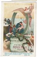 Noël 1915 - Au Profit De L'oeuvre De La Soupe - Peinture Sur Un Sac De Farine E. Carpentier - 2 Scans - Patriottisch