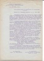 """Document 1935 """"Association Contre La Tuberculose Et L'alcoolisme"""" 26, Rue VAVIN (6ème) à PARIS. - Organizations"""
