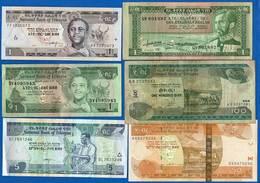 Ethiopie  6  Billets   Dans  L'etat - Ethiopie