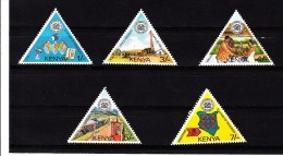 1987 Kenya Post & Telecom Complete  Satellite Set Of 5   TRIANGLES MNH - Kenia (1963-...)