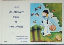Petit Calendrier De Poche 1984 La Poste P T T Meilleurs Voeux Facteur Préposé Colombine Lavigne - Calendriers