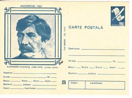 1983 , Romania , Roumanie , Writer A.Vlahuta , Pre-paid Postcard - Romania
