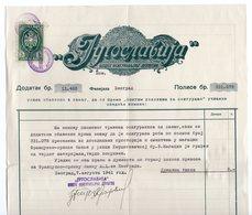 1941 YUGOSLAVIA, SERBIA, JUGOSLAVIA, INSURANCE POLICY, LETTERHEAD, FISKAL STAMP - Unclassified