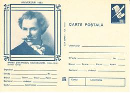 1983 , Romania , Roumanie , Writer B.Delavrancea , Pre-paid Postcard - Romania