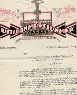 1923 YUGOSLAVIA, CROATIA, ZAGREB, ART WORKSHOP, LETTERHEAD - Invoices & Commercial Documents