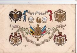 Très Belle CPA Gaufrée Et Dorée Avec Blasons Des Pays Alliés De La Guerre 14-18 - Guerre 1914-18