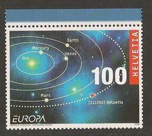 "SUIZA / SWITZERLAND/ SCHWEIZ / SUISSE- EUROPA 2009 - ""ASTRONOMIA"" -  SERIE De 1 V. DENTADA  ( PERFORATED) - Europa-CEPT"