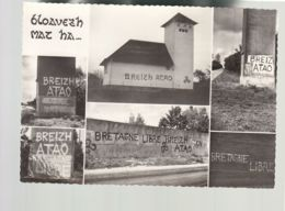 CP (Rég.) Inscription Bretagne Libre, Breizh Atao - Multivues - Bretagne